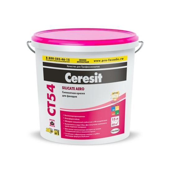 Силикатная краска Ceresit CT 54