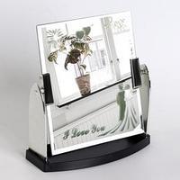 Зеркало настольное, зеркальная поверхность 15 x 17,5 см, цвет серебряный