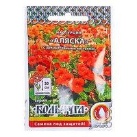 Семена цветов Настурция 'Аляска' смесь, серия Кольчуга, О, 1,5 г (комплект из 10 шт.)
