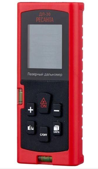 Дальномер РЕСАНТА ДЛ-30 0.05-30 м +/-2 дисплей с подсветкой