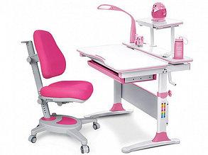 Комплект растущая парта и кресло Mealux EVO-30 (с лампой) цвет розовый,дерево