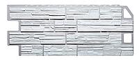 Фасадные панели Белый 1130x470 мм Дачные Сланец FINEBER