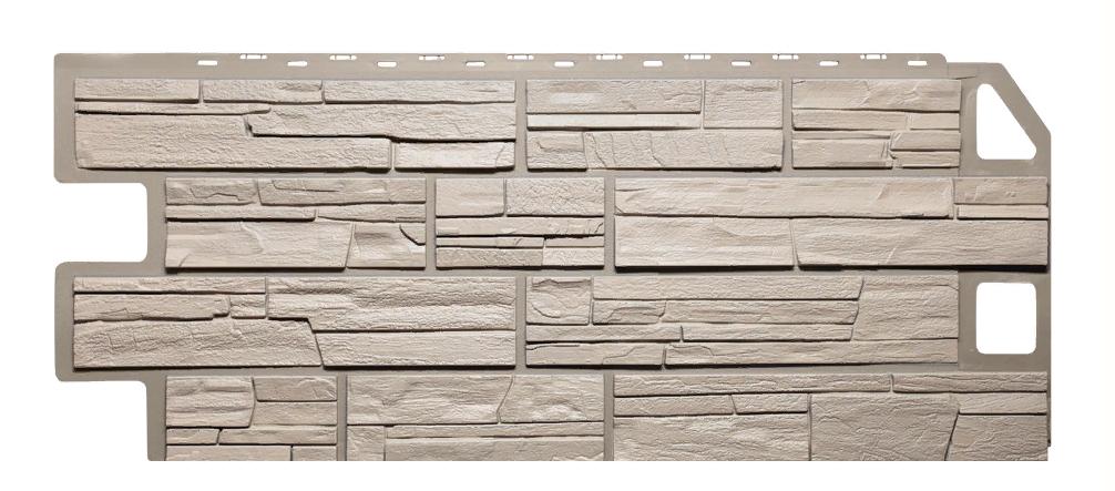 Фасадные панели Сланец Бежевый 1130x470 мм Дачные FINEBER