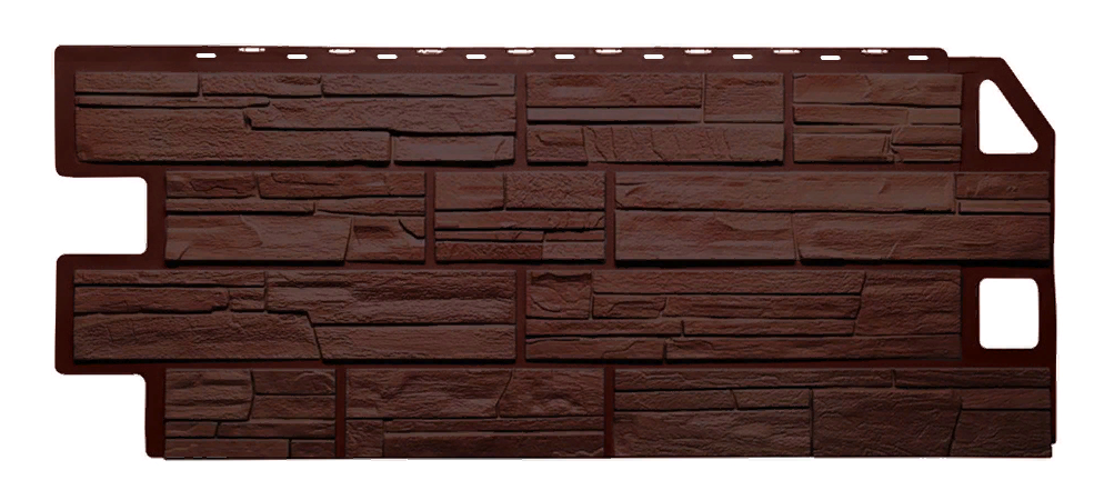 Фасадные панели Сланец Коричневый 1130x470 мм Дачные FINEBER