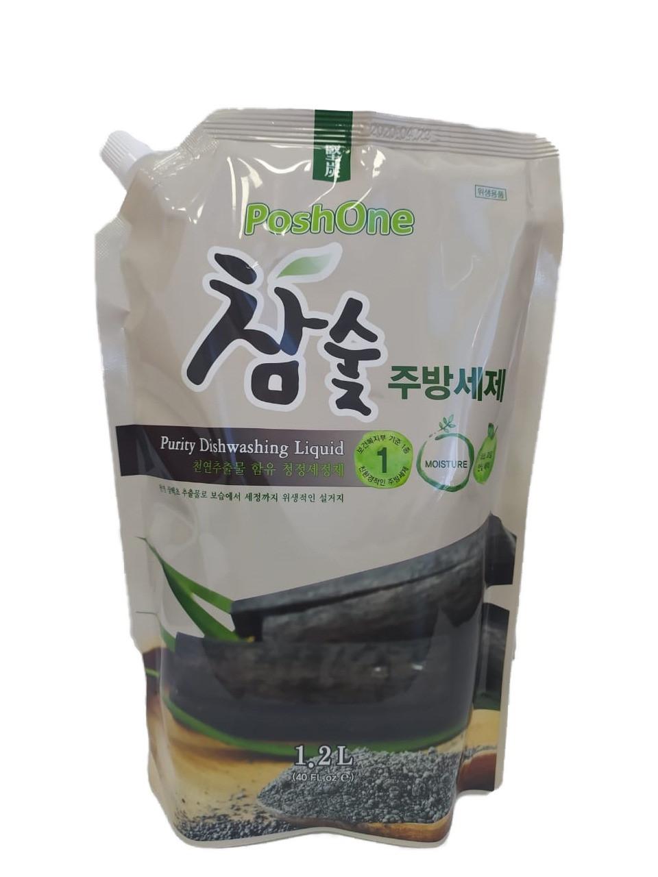 Poshone Средство для мытья посуды с древесным углем Charcoal Purity Dishwashing Liquid / 1200 мл.
