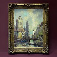 «Улицы Амстердама» Авторская подпись Van Duin.