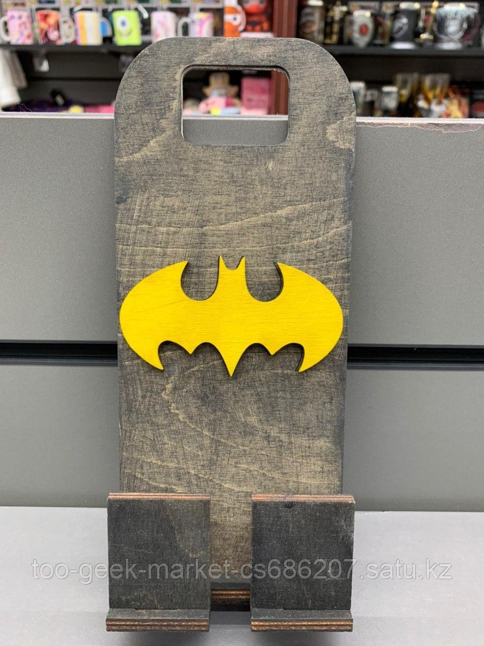 """Деревянная подставка для телефона """"Бэтмен"""""""