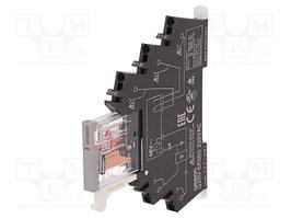 Реле: интерфейсное; SPDT; Uобмотки: 24ВDC; 6А; 6A/250ВAC; 6A/30ВDC