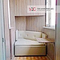 Угловой диван на заказ для балкона