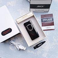 Электронная вращающаяся USB-зажигалка в подарочной коробке, черная., фото 1
