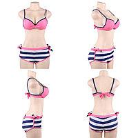 Купальник тройка Pink Stripe (XL), фото 5