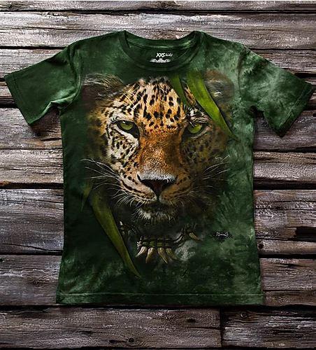"""Детская футболка с принтом 3D """"Леопард"""" в Алматы"""