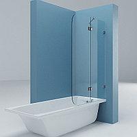 Изготовление прямой шторки на ванну из стекла с распашной дверью