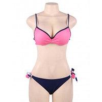 Купальник тройка Pink Stripe S, M, L, XL, фото 7