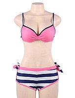 Купальник тройка Pink Stripe S, M, L, XL, фото 4
