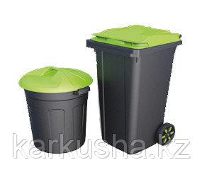 Круглый мусорный бак 110 л.