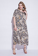 Летнее платье, вискоза, 50-58, песочно-серый