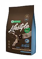 Сухой корм для стерилизованных кошек Nature's Protection Lifestyle Grain Free Adult Cat Sterilised White Fish