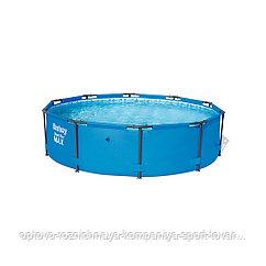 Каркасный бассейн Steel Pro MAX 305 х 76 см, BESTWAY, 56406, Винил, 4678 л., Стальной каркас, Подстаканники