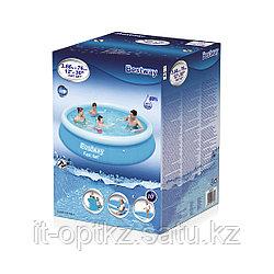 Семейный надувной бассейн Fast Set 244 х 76 см, BESTWAY, Винил, 5377 л., Голубой, Цветная коробка