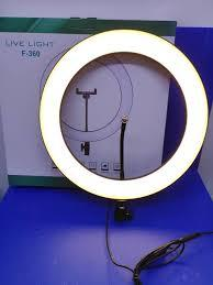 Кольцевая лампа напольная (36 см)  F-360 металлическая противоударная высота штатива от 60 до 210см