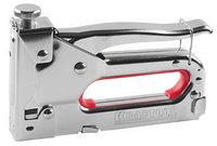 """Пистолет KRAFTOOL """"EXPERT"""" скобозабивной, регулировка силы удара, тип скобы 53 (красная): 6-14мм."""
