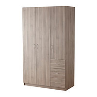 Гардероб ТОДАЛЕН с 3 дверцами+3 ящика серо-коричневый ИКЕА, IKEA, фото 1