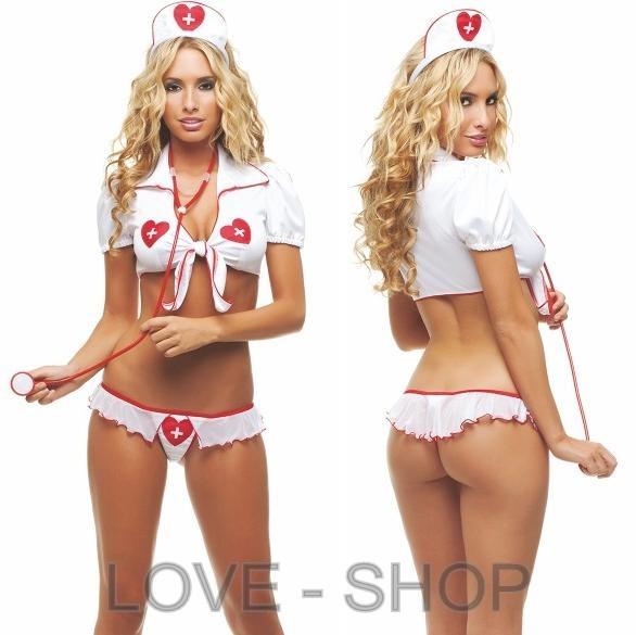 Откровенный костюмчик медсестры.