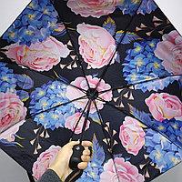Складной универсальный: от дождя и солнца. Женский зонт с Розами