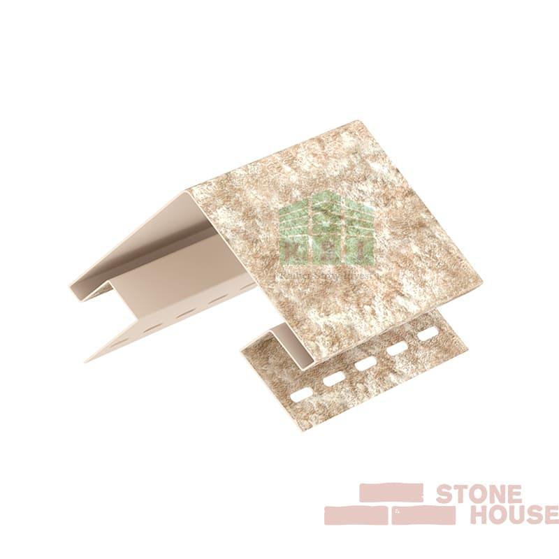 Наружный угол Stone House (светло-бежевый кварцит)
