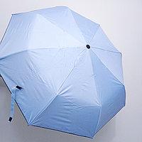 Складной универсальный: от дождя и солнца. Женский зонт с голубой., фото 1