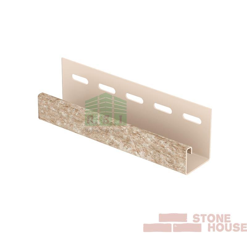 J-планка Stone House (светло-бежевый кварцит)