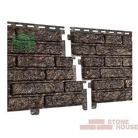 Фасадная панель акриловая Stone House (коричневый кварцит)
