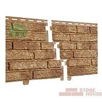 Фасадная панель акриловая Stone House (темно-бежевый кварцит)