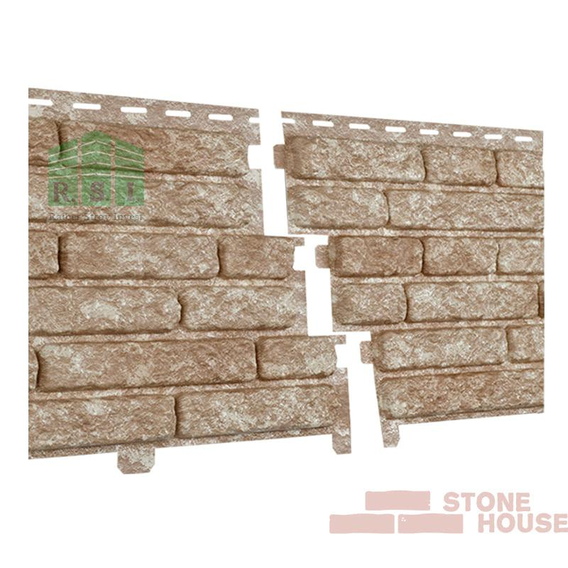 Фасадная панель акриловая Stone House (светло-бежевый кварцит)