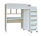 Кровать чердак детская Капризун <К440>, белый, фото 3