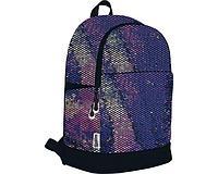Рюкзак повседневный с многоцветными пайетками и сеткой. Размер: 43х29х16,5 см. Seventeen Радужные пайетки
