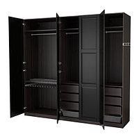 Гардероб ПАКС черно-коричневый Ундредаль черный ИКЕА, IKEA, фото 1