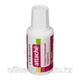 Корректирующая жидкость с кисточкой Attache, на быстросохнущей основе, 20 мл