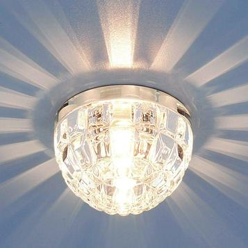 Светильник Elektrostandard G9 7246 хром/прозрачный, LED подсветкой