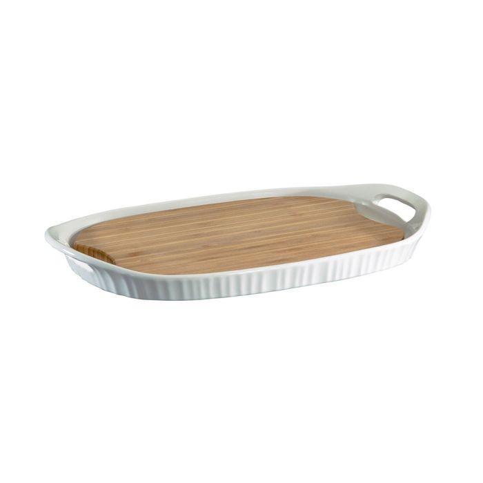 Форма прямоугольная, 40 х 25 см, с бамбуковой доской