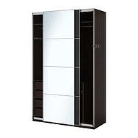 Гардероб ПАКС черно-коричневый Аули Ильсенг ИКЕА, IKEA , фото 1