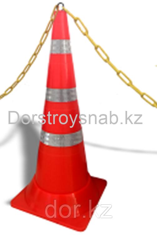 КС Конус сигнальный резиновый мягкий, гибкий, оранжевый 750 мм Гарантия 2 года