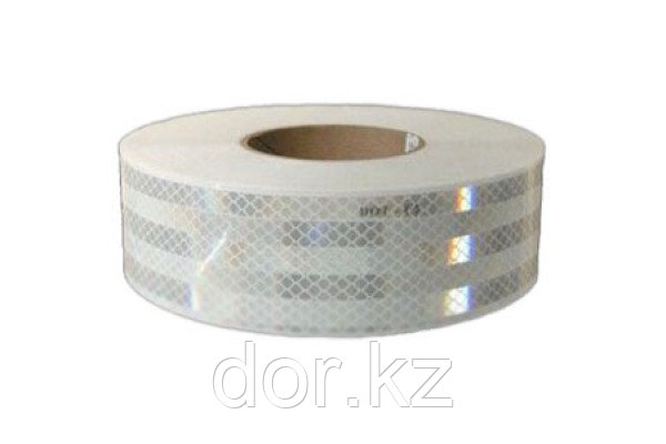 Светоотражающая лента белая для маркировки тентов Для дорожных работ