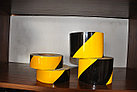 Лента светоотражающая черно желтая для ограждения опасностей, фото 2