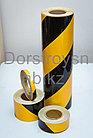 Лента световозвращающая черно-желтая 10 см для ограждения опасностей, фото 2