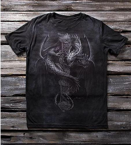 Детская футболка для мальчиков с рисунком «Дракон» в Алматы