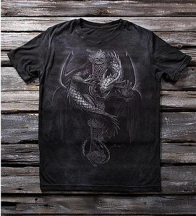 Детская футболка для мальчиков с рисунком «Дракон» в Алматы, фото 2