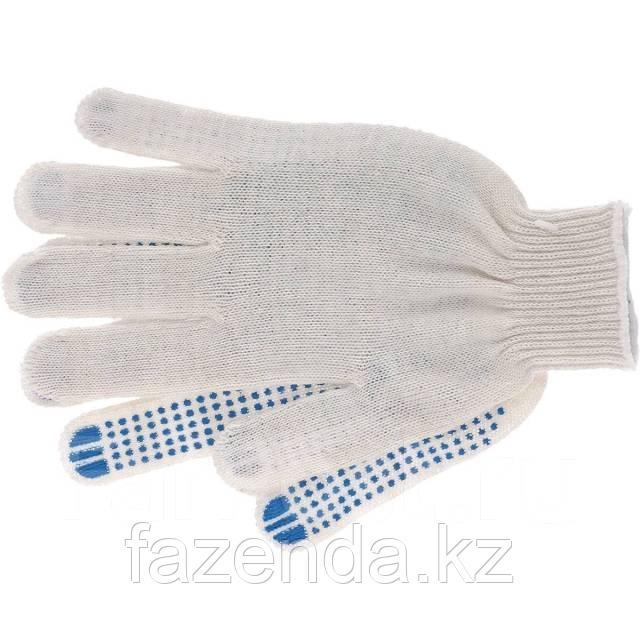Перчатки трикотажные с ПВХ, 62гр