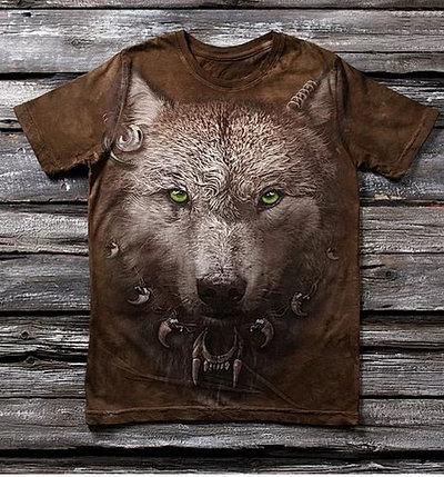 Детская футболка с рисунком «Волчонок» в Алматы, фото 2